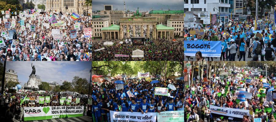 Imágenes de las manifestaciones en varias ciudades